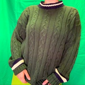Vintage y2k Cable Knit Oversized Sweater size m